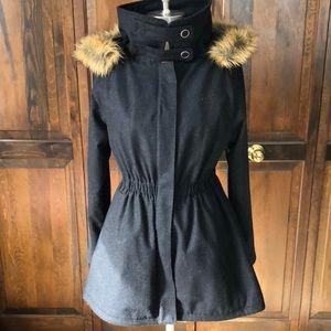 Heritage brand removable fur hood jacket
